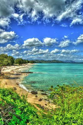 Photograph - Turquoise Green Kailua Beach Park Oahu Hawaii Art by Reid Callaway