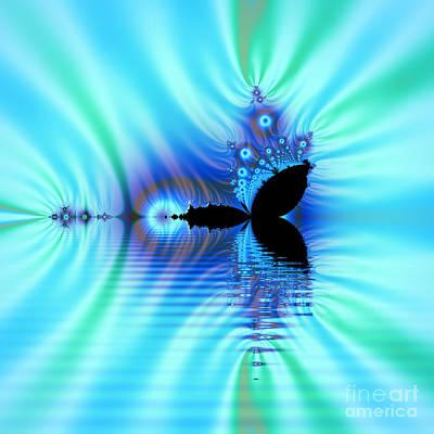 Turquoise Lake Fractal Art Print