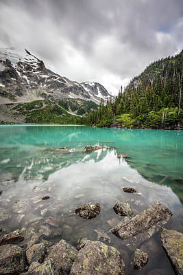 Photograph - Turquoise Lake In The Mountains by Pierre Leclerc Photography