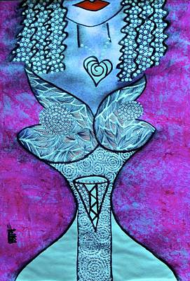 Archetype Painting - Turquoise Love Muse by Tetka Rhu