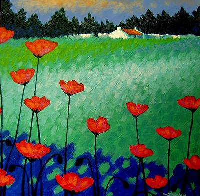 Irish Painting - Turquoise Meadow by John  Nolan