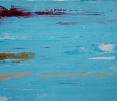 Painting - Turquoise Modern Art by Shiela Gosselin