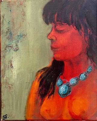 Painting - Turquoise Necklace by Sally Fraser