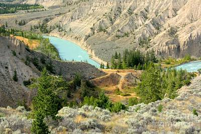 Photograph - Turquoise Path by Frank Townsley