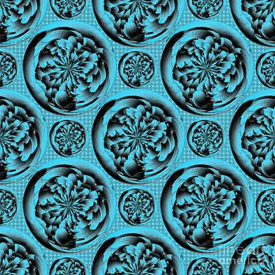 Algorithmic Digital Art - Turquoise Pattern by Gaspar Avila