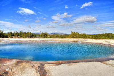 Turquoise Pool Art Print by Donna Kennedy