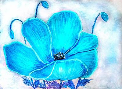 Painting - Turquoise Poppy by Anne Sands