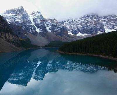 Turquoise Reflection At Moraine Lake Art Print