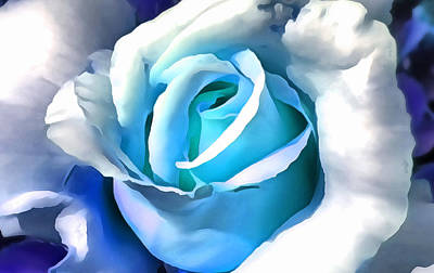 Digital Art - Turquoise Rose by Ruth Moratz