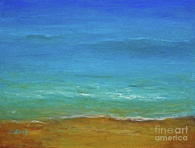 Painting - Turquoise Sea by Carolyn Jarvis