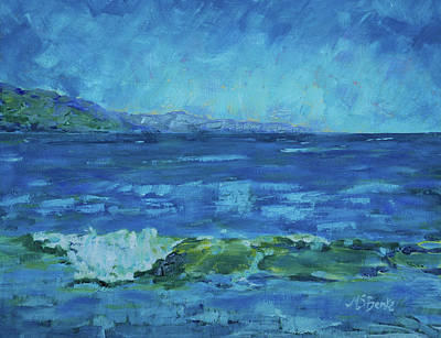 Painting - Turquoise Sea by Mary Benke