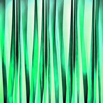 Digital Art - Turquoise Serenity Stripy Pattern by Tracey Harrington-Simpson