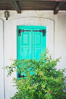Turquoise Shutter Print by Tom Gowanlock