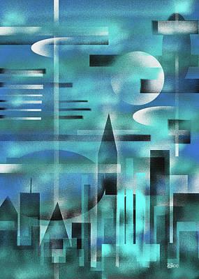 Painting - Turquoise Skyline by Hakon Soreide