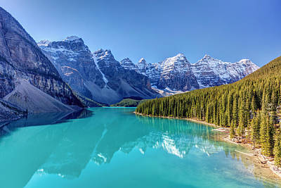 Photograph - Turquoise Splendor Moraine Lake by Pierre Leclerc Photography