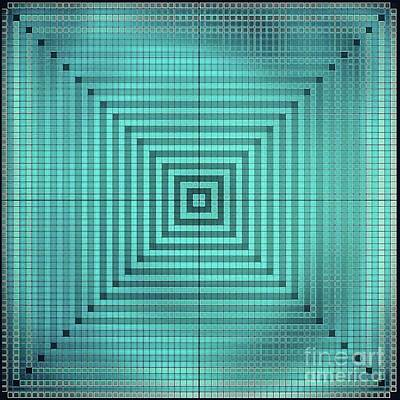 Wall Art - Digital Art - Turquoise Square by Lisa Marie Towne