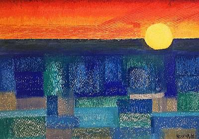 Painting - Turquoise Sunset by Norma Duch