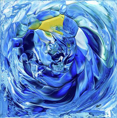 Vortex Painting - Turquoise Swirl by Hakon Soreide