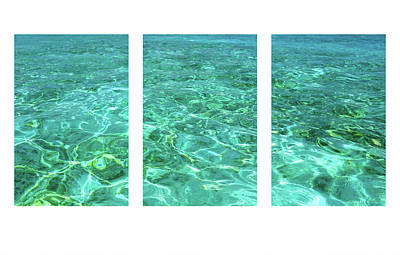 Photograph - Turquoise Temptation Triptych by Jenny Rainbow