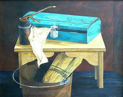 Painting - Turquoise Toolbox by T Fry-Green