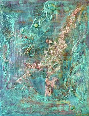 Turquoise Universe Art Print by Lynn Watters