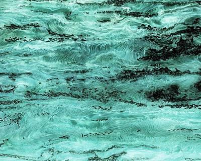 Turquoise Water Art Print by Paul Tokarski