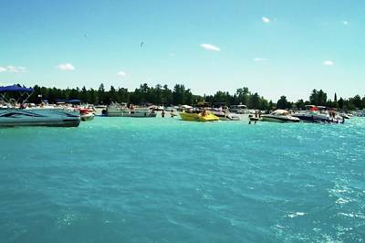 Photograph - Turquoise Waters At The Torch Lake Sandbar by Michelle Calkins