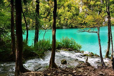 Turquoise Waters Of Milanovac Lake Art Print by Two Small Potatoes