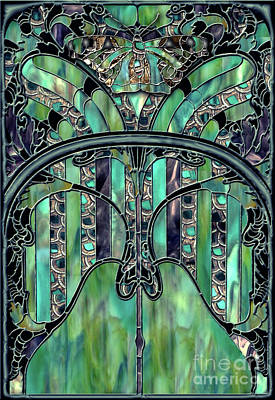 Cut Glass Painting - Turquoise Window Jewels by Mindy Sommers