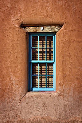 Photograph - Turquoise Window - Santa Fe by Stuart Litoff