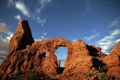 Photograph - Turret Arch In The Moonlight by Jean Clark