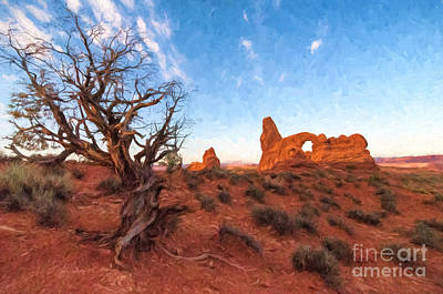 Photograph - Turret Arch Painted by Sharon Seaward