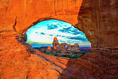 Photograph - Turret Arch Through Window by Norman Hall