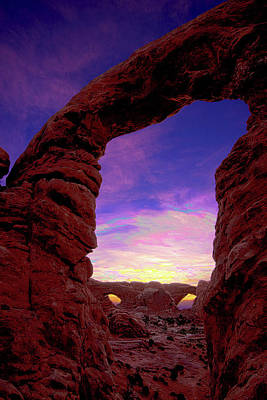 Photograph - Turret Arch To Windows by Norman Hall