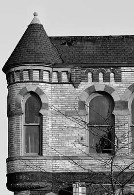 Photograph - Turret Port Huron 2 Bw by Mary Bedy