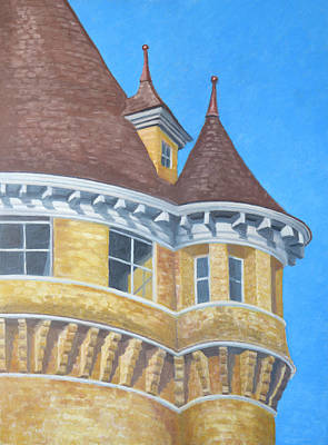 Drawing - Turrets Of Lawson Tower by Dominic White