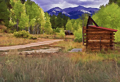 Digital Art - Turrett - Colorado Ghost Town by Charles Muhle