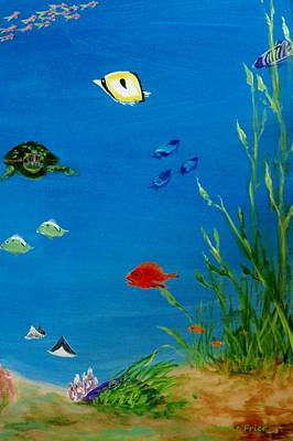 Painting - Turtle And Friends by Jamie Frier