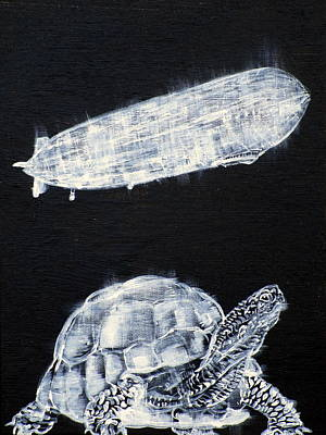 Painting - Turtle And Zeppelin by Fabrizio Cassetta