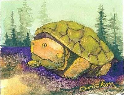 Oneida Painting - Turtle Baby by Owisokon Lahache