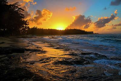 Photograph - Turtle Bay Hawaii Sunset by Jason Brooks