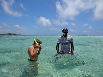 Exploramum Wall Art - Photograph - Turtle Bay Resort Watamu Kenya Snorkelling by Exploramum Exploramum