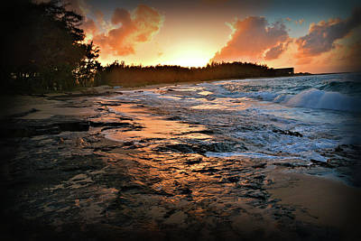 Photograph - Turtle Bay Sunset 1 by Jason Brooks