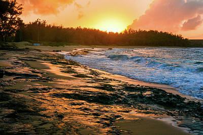 Photograph - Turtle Bay Sunset 2 by Jason Brooks