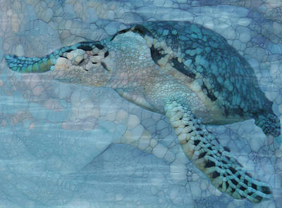 Scuba Painting - Turtle - Beneath The Waves Series by Jack Zulli