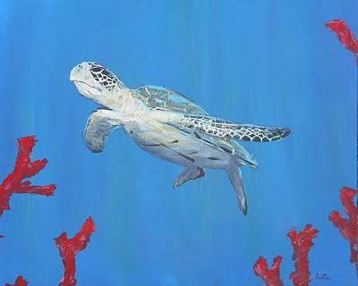 Turtle Blue Original by Dustin Porta