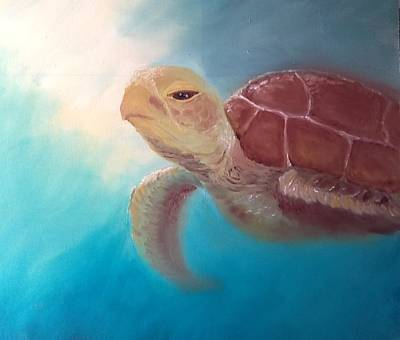 Etc. Painting - Turtle by Cheryl Herndon