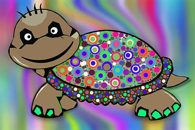 Hawaii Sea Turtle Digital Art - Turtle Colorful 2 by Ralph Klein