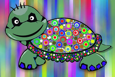 Hawaii Sea Turtle Digital Art - Turtle Colorful by Ralph Klein