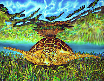 Turtle Grass Art Print by Daniel Jean-Baptiste